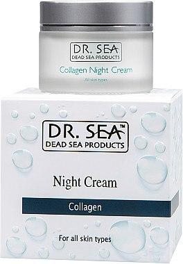 Nachtcreme mit Kollagen für alle Hauttypen - Dr. Sea Night Cream — Bild N1