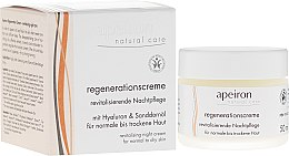 Düfte, Parfümerie und Kosmetik Revitalisierende Nachtpflege für normale bis trockene Haut - Apeiron Night Regeneration Cream