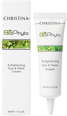 Aufhellende Hals- und Augencreme - Christina Bio Phyto Enlightening Eye and Neck Cream — Bild N2
