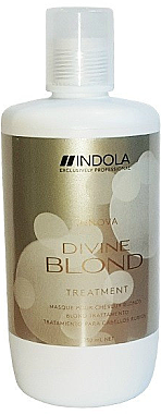 Haarmaske für blondes Haar - Indola Divine Blond Treatment — Bild N1