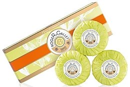 Düfte, Parfümerie und Kosmetik Seifenset mit Osmanthusblüten - Roger & Gallet Fleur D'Osmanthus Perfumed Soaps (Parfümierte Seife 3x100g)
