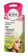 Düfte, Parfümerie und Kosmetik Enthaarungsstreifen für Gesicht mit Sheabutter - Veet Natural Inspirations Wax Strips