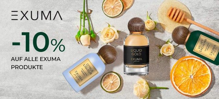 -10% auf alle Exuma Produkte. Die Preise auf der Website sind inklusive Rabatt