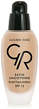 Düfte, Parfümerie und Kosmetik Glättende Foundation LSF 15 - Golden Rose Satin Smoothing Fluid Foundation SPF15