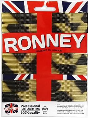 Haarklemmen 60 mm 100 St. - Ronney Golden-Black Hair Bobby Pins — Bild N1