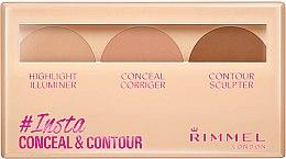 Düfte, Parfümerie und Kosmetik Konturierpalette - Rimmel Insta Conceal & Contour Palette