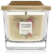 Düfte, Parfümerie und Kosmetik Duftkerze im Glas Velvet Woods - Yankee Candle Velvet Woods Elevation Square Candles