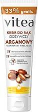 Düfte, Parfümerie und Kosmetik Handcreme mit Bio Arganöl und Glycerin - Vitea Moisturizing Hand Cream Argan Oil