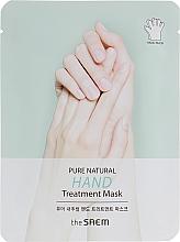 Düfte, Parfümerie und Kosmetik Feuchtigkeitsspendende und pflegende Handmaske in Handschuhe mit Paraffin und Sheabutter - The Saem Pure Natural Hand Treatment Mask