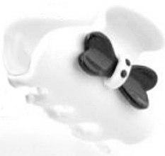 Düfte, Parfümerie und Kosmetik Haarklammer 218 weiß - Moliabal Milano Hair Clip