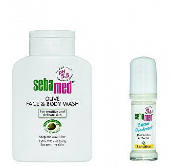 Duftset Sensitive - Sebamed (Duschgel 200ml + Deo Roll-On 50ml) — Bild N1