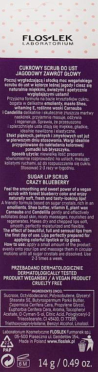 Lippenpeeling mit Blaubeerduft - Floslek Vege Lip Care Sugar Lip Scrub Crazy Bleuberry — Bild N2