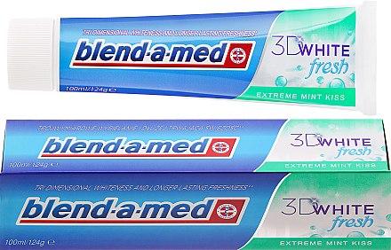Zahnpasta 3D White Fresh Extreme Mint Kiss - Blend-a-med 3D White Fresh Extreme Mint Kiss Toothpaste — Bild N1
