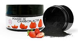 Düfte, Parfümerie und Kosmetik Aufhellendes Zahnpulver mit Aktivkohle und Erdbeergeschmack - Keeth Strawberry-flavoured Activated Charcoal Bleaching Powder