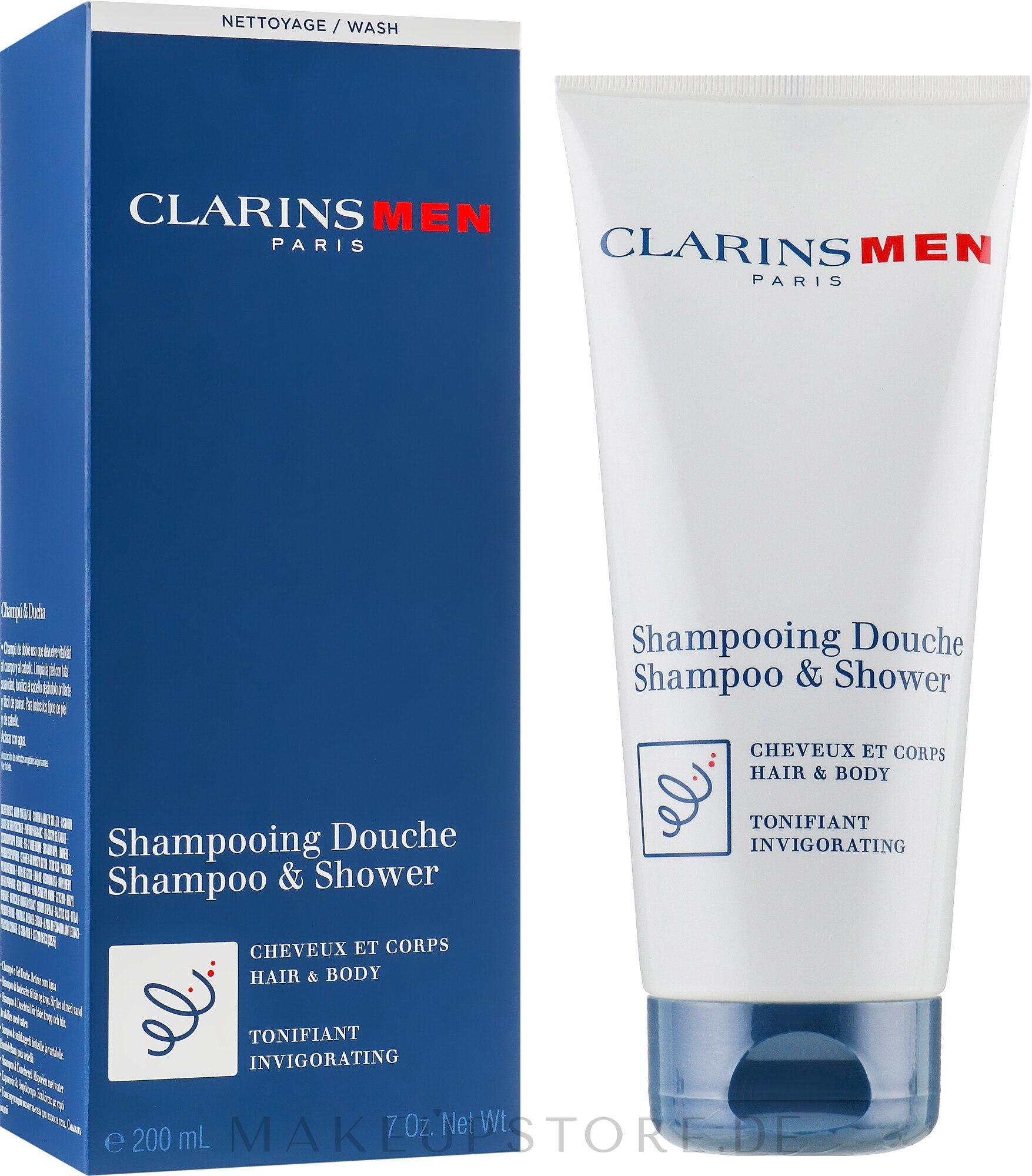 Erfrischendes Haar- und Körpershampoo - Clarins Men Shampoo & Shower — Bild 200 ml
