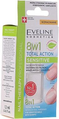 Konzentrierter Nagelhärter mit Quartz - Eveline Cosmetics Nail Therapy Professional Sensitive — Bild N2