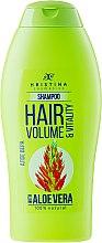 Düfte, Parfümerie und Kosmetik Shampoo - Hristina Cosmetics Hair Volume & Vitality With Aloe Vera Shampoo