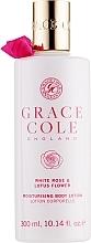 Düfte, Parfümerie und Kosmetik Körperlotion mit weißer Rose und Lotusblume - Grace Cole White Rose & Lotus Flower Body Lotion