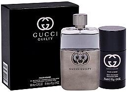 Düfte, Parfümerie und Kosmetik Gucci Guilty Eau Pour Homme - Duftset (Eau de Toilette 90ml + Deodorant 75ml)