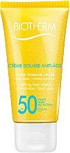 Düfte, Parfümerie und Kosmetik Anti-Aging-Sonnenschutz Gesichtscreme - Biotherm Sun Protection Creme Solaire Anti-age SPF 50