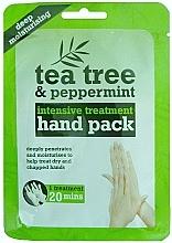 Düfte, Parfümerie und Kosmetik Feuchtigkeitsspendende Handmaske in Socken mit Teebaum und Pfefferminze - Xpel Marketing Ltd Tea Tree & Peppermint Deep Moisturising Hand Pack
