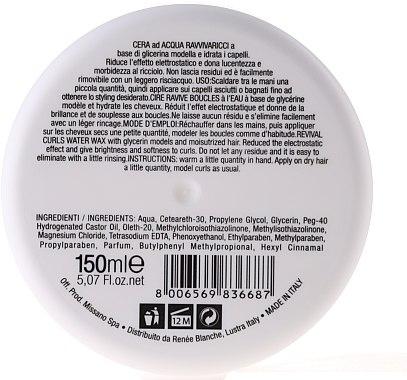 Haarwachs für lockiges Haar mit Glycerin - H.Zone Wax — Bild N2
