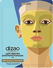Düfte, Parfümerie und Kosmetik Feuchtigkeitsspendende, regenerierende und glättende Vliesmaske für das Gesicht mit 24 Karat Gold, Kollagen und Peptidkomplex - Dizao