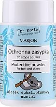 Düfte, Parfümerie und Kosmetik Schützender Puder für Füße und Schuhe mit Eukalyptusöl und Menthol - Marion Dr Koala Protective Powder