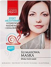 Düfte, Parfümerie und Kosmetik Regenerierende und verjüngende Gesichtsmaske mit Schneckenextrakt - Czyste Piekno Snail Face Mask