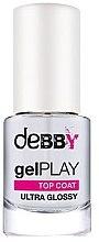 Düfte, Parfümerie und Kosmetik Glänzender Nagelüberlack mit Gel-Effekt - Debby Gel Play Top Coat Ultra Glossy