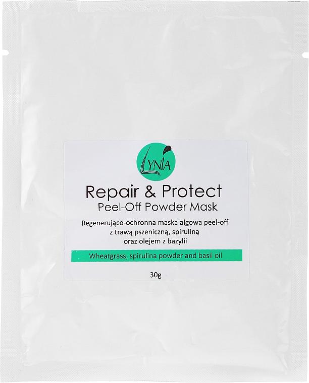 Gesichtsmaske mit Weizengrass, Spirulina und Basilikumöl - Lynia Repair & Protect Peel-off Powder Mask — Bild N1