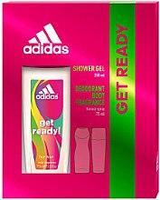 Düfte, Parfümerie und Kosmetik Adidas Get Ready! For Her - Duftset (Deodorant Spray/75ml + Duschgel/250ml)
