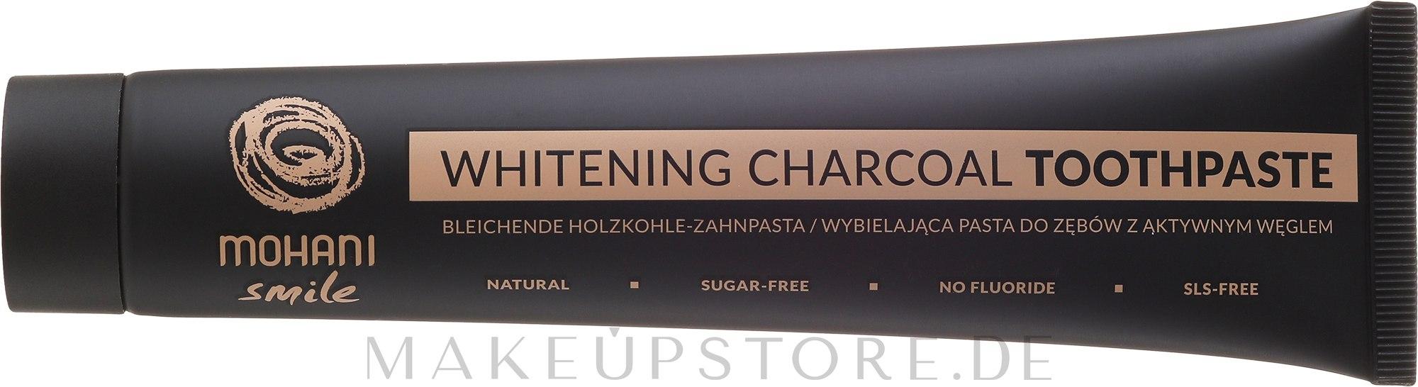 Natürliche bleichende Holzkohle-Zahnpasta - Mohani Smile Whitening Charcoal Toothpaste — Bild 75 ml