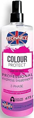 Zwei-Phasen-Spray für gefärbtes Haar - Ronney Color Protect Professional Express Treatment 2-Phase — Bild N1