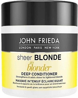 Maske für blondes Haar - John Frieda Sheer Blonde Go Blonder Deep Conditioner — Bild N1