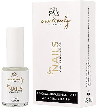 Pflegendes Gel zum Entfernen der Nagelhaut - One&Only Cuticles Remover Gel With Aloe Extract And Urea — Bild N1
