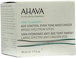 Düfte, Parfümerie und Kosmetik Feuchtigkeitsspendende und ausgleichende Anti-Aging Gesichtscreme SPF 20 - Ahava Age Control Even Tone Moisturizer Broad