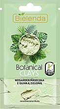 Düfte, Parfümerie und Kosmetik Entgiftende und normalisierende Gesichtsmaske mit grünem Ton - Bielenda Botanical Clays