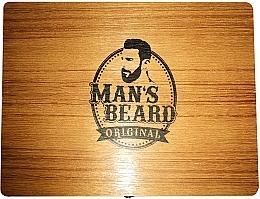 Rasierset für Männer - Man's Beard Barber Wood Set (Rasierpinsel 1St. + Rasierer 1St. + Ständer 1St.) — Bild N2