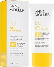 Düfte, Parfümerie und Kosmetik Sonnenschutzende BB Gesichtscreme SPF50+ - Anne Moller BB Age Sun Resist Perfecting Cream SPF50+
