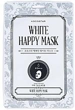 Düfte, Parfümerie und Kosmetik Sanfte revitalisierende Tuchmaske für das Gesicht - Kocostar White Happy Mask