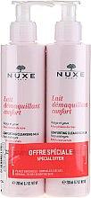 Düfte, Parfümerie und Kosmetik Gesichtspflegeset - Nuxe Comforting Cleansing Milk With Rose Petals (Reinigungsmilch für Gesicht und Augen 2x200ml)