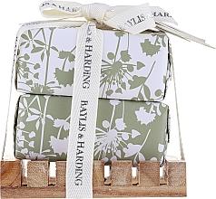 Düfte, Parfümerie und Kosmetik Seifenset - Baylis & Harding Urban Barn Lime, Basil & Mint (Feste Seife 2x200g + Seifenschale aus Holz)
