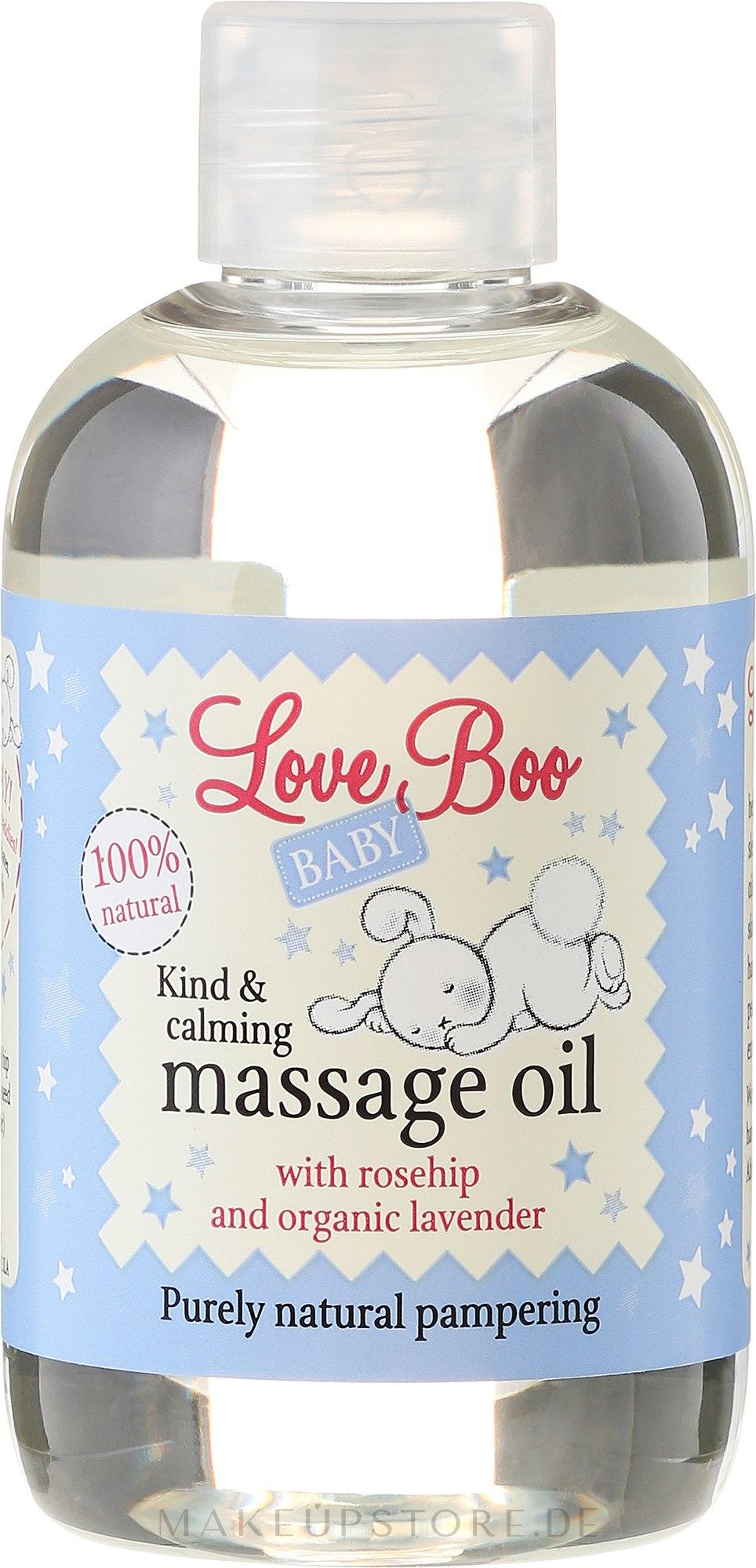 Beruhigendes Massageöl für Kinder mit Hagebutte und Bio Lavendel - Love Boo Baby Kind & Calming Massage Oil — Bild 100 ml
