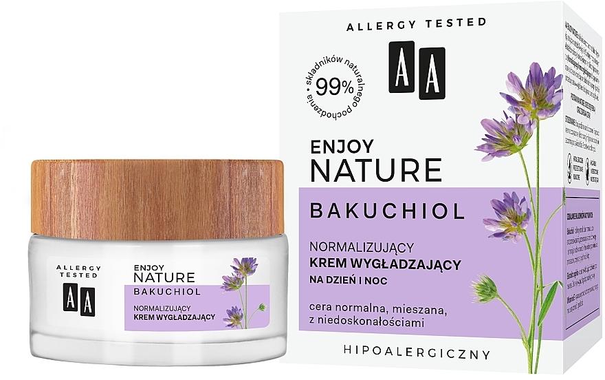 Normalisierende und glättende Gesichtscreme - AA Enjoy Nature Bakuchiol Normalising Smoothing Day&Night Cream — Bild N1