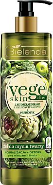 Normalisierendes Reinigungsgel mit Präbiotika für fettige und Mischhaut - Bielenda Vege Skin Diet — Bild N1
