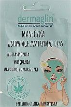 Düfte, Parfümerie und Kosmetik Gesichtsmaske mit grünem Ton - Dermaglin Slow Age