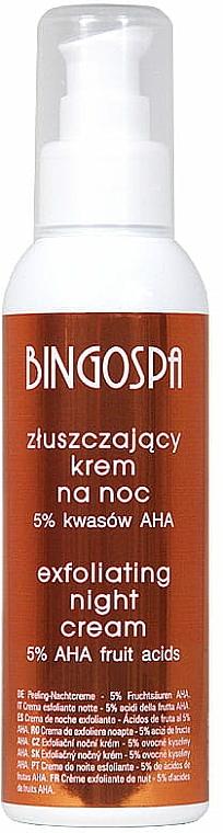 Peeling-Nachtcreme mit 5% AHA-Säuren - BingoSpa Exfoliating Cream On The Night 5% AHA — Bild N1