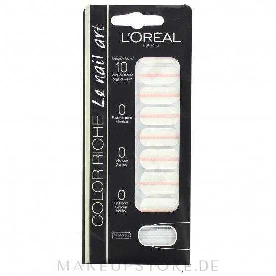 Dekorative Nagelsticker - L'Oreal Paris Stickers Color Riche Le Nail Art — Bild 020 - Petite Perle