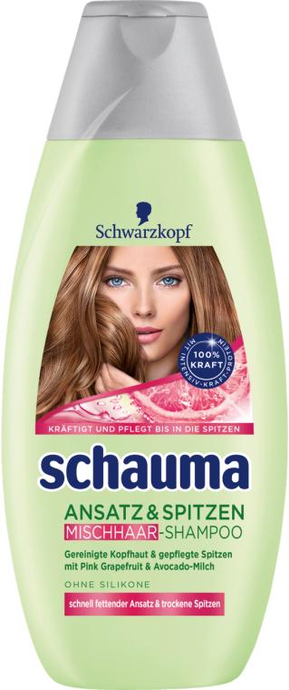 """Shampoo """"Ansatz und Spitzen"""" mit Avocado-Milch für fettige Wurzeln und trockene Enden - Schwarzkopf Schauma Mischhaar Shampoo — Bild N1"""